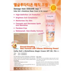 Whitening Sunscreen L-Glutathione Magic Cream SPF 50+ PA+++ (138ml)