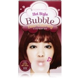 Hot Style Bubble Hair Coloring (Cherry Brown)