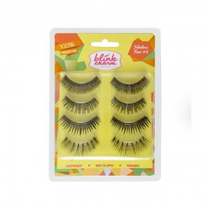 Blink Charm Eyelashes Fabulous Four 3 ( Isi 4 Pasang )