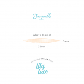 Invisible Eyelid Tape (Lace) - Lily Lace