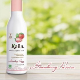 Lightening Skin Care Body Lotion - Strawberry Passion Scent (200ml)
