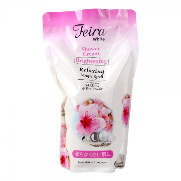 White Sakura Shower Cream Refill (850ml)