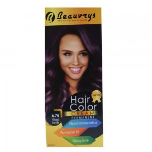 Hair Color Cream Grape Purple