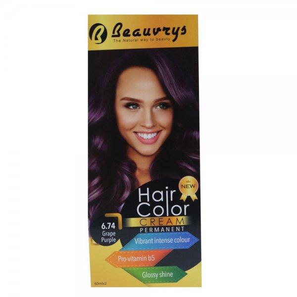 Hair Color Cream Grape Purple