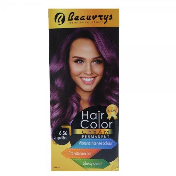 Hair Color Cream Grape Red