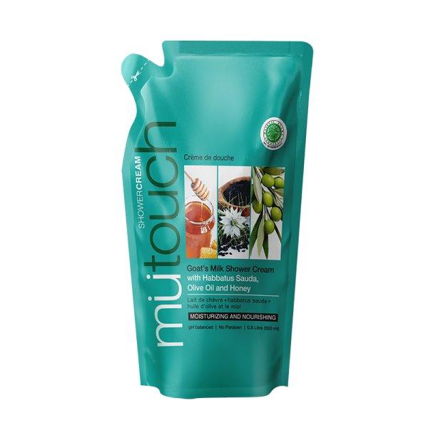 Goat's Milk Shower Cream Refill - Habbatus Sauda, Olive Oil & Honey (800ml)