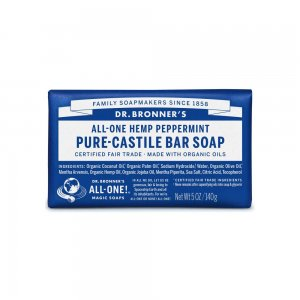 Pure Castile Bar Soap Peppermint (140gr)