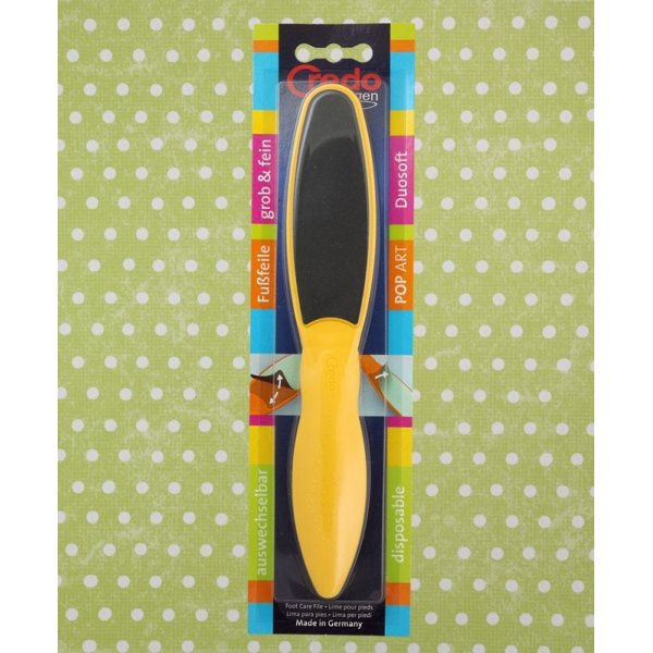 Credo Solingen Foot File Duo Yellow