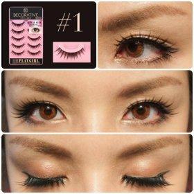Decorative Eyelash - Play Cute (Choose Type)