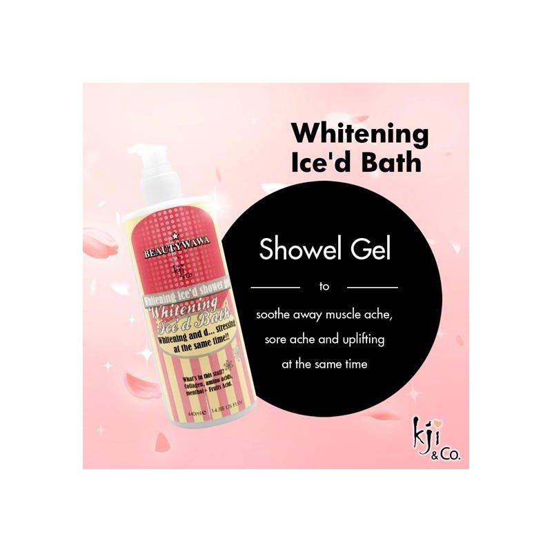 kji co whitening ice d bath shower gel
