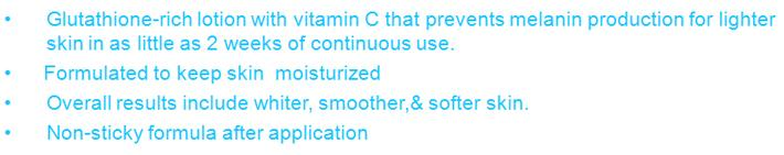 MET TATHIONE Glutathione Whitening Lotion