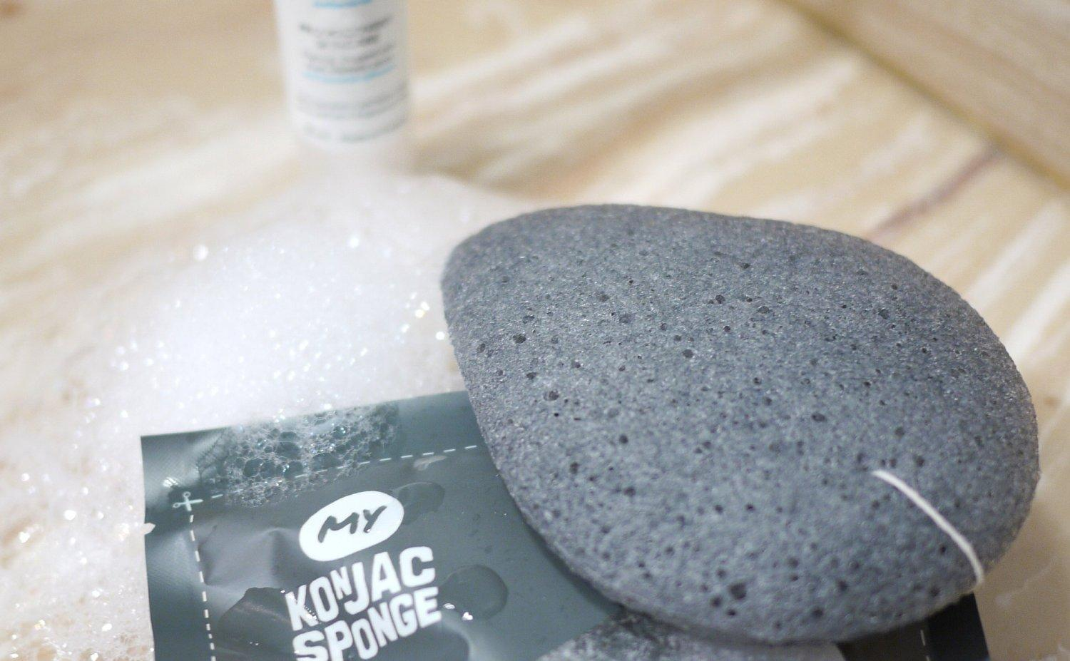 My Konjac Sponge - All Natural Fiber Bamboo Charcoal Facial Sponge (Grey)