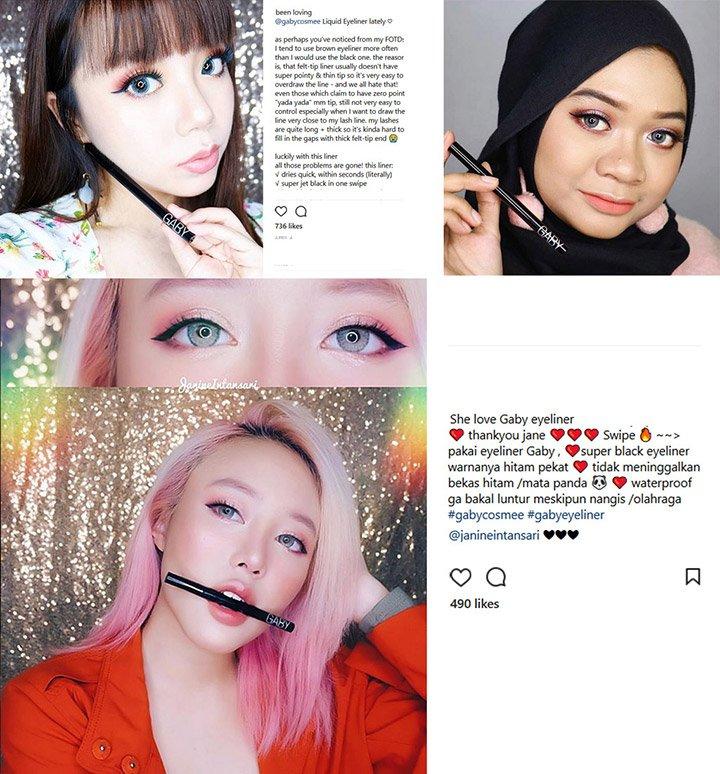 Gaby Eyeliner Users